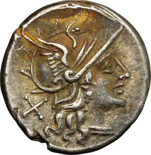 obverse: C. Iunius C.f. . AR Denarius, 149 BC