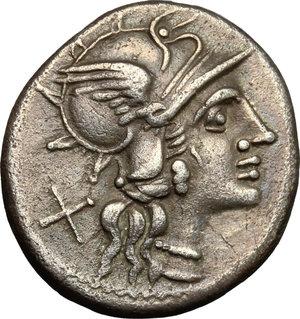 obverse: Anonymous. AR Denarius, 143 BC