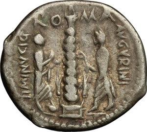reverse: Ti. Minucius C. f. Augurinus.. AR Denarius, 134 BC