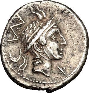 obverse: L. Philippus.. AR Denarius, 113 or 11 BC