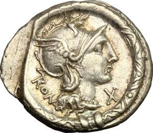 obverse: L. Torquatus.. AR Denarius, 113-112 BC