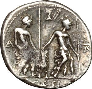 reverse: Lucius Caesius.. AR Denarius, 112-111 BC