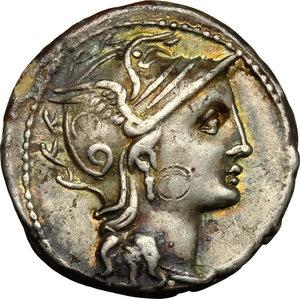 obverse: C. Claudius Pulcher.. AR Denarius, 110 or 109 BC