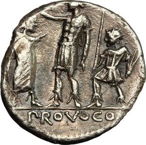 reverse: P. Laeca.. AR Denarius, circa 110-109 B.C