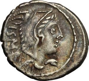 obverse: L. Thorius Balbus.. AR Denarius, 105 BC