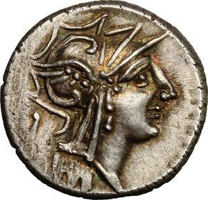 obverse: D. Silanus L.f.. AR Denarius, 91 BC