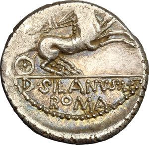 reverse: D. Silanus L.f.. AR Denarius, 91 BC