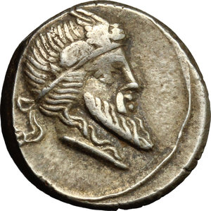obverse: Q. Titius.. AR Denarius, 90 BC
