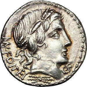 obverse: Mn. Fonteius C. f.. AR Denarius, 85 BC