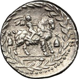 reverse: Mn. Fonteius C. f.. AR Denarius, 85 BC
