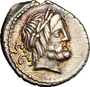 obverse: L. Procilius.. AR Denarius, 80 BC
