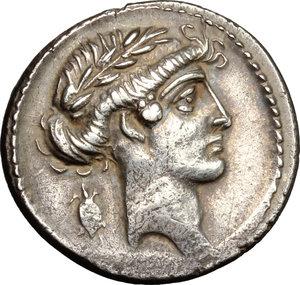 obverse: Q. Pomponius Musa.. AR Denarius, 66 BC