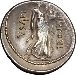reverse: Q. Pomponius Musa.. AR Denarius, 66 BC
