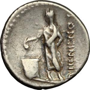 reverse: L. Cassius Longinus.. AR Denarius, 63 BC