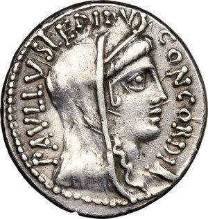 obverse: L. Aemilius Lepidus Paullus. . AR Denarius, 62 BC