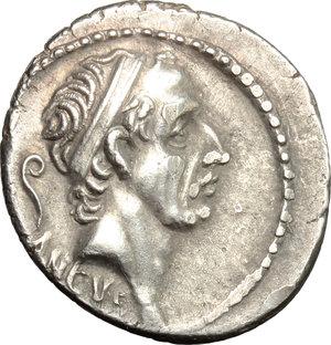 obverse: L. Marcius Philippus. . AR Denarius, 56 BC