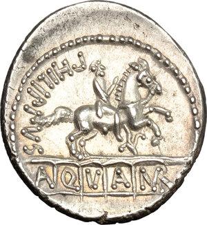 reverse: L. Marcius Philippus. . AR Denarius, 56 BC