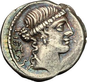 obverse: Albinus Bruti f.. AR Denarius, 48 BC