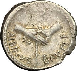 reverse: Albinus Bruti f.. AR Denarius, 48 BC