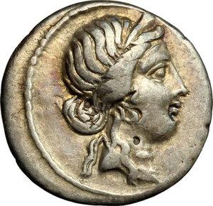 obverse: Julius Caesar.. AR Denarius, 47-46 BC