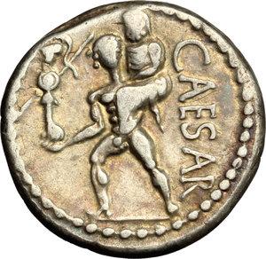 reverse: Julius Caesar.. AR Denarius, 47-46 BC