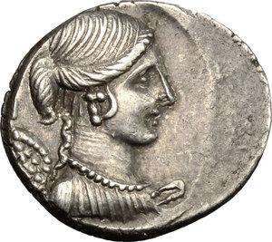 obverse: T. Carisius.. AR Denarius, 46 BC