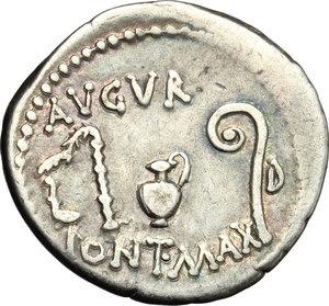 reverse: Julius Caesar.. AR Denarius, 46 BC. Sicily (?)