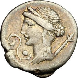 obverse: Julius Caesar.. AR Denarius, Spain, 46-45 BC