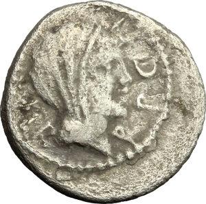 obverse: Mark Antony. AR Quinarius, 39 BC