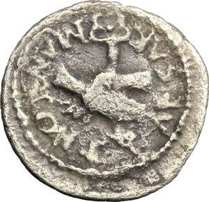 reverse: Mark Antony. AR Quinarius, 39 BC
