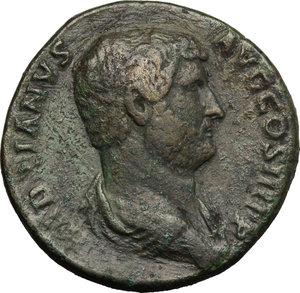 Hadrian (117-138).. AE Sestertius, Rome mint, 134-138 AD