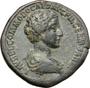 Commodus as Caesar (175-177).. AE Sestertius, 175-176 AD