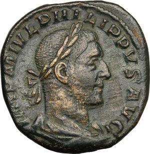 Philip I (244-249).. AE Sestertius, 248 AD