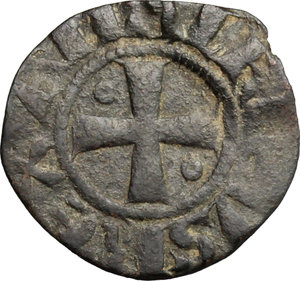 obverse: Gerusalemme.  Amalrico I di Gerusalemme (1163-1174). Denaro con la rappresentazione della Chiesa del Santo Sepolcro
