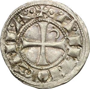 reverse: Antiochia.  Boemondo III (1163-1201).. Denaro tornese