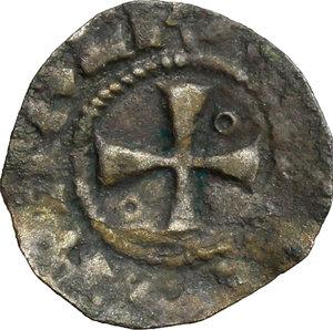 obverse: Gerusalemme.  Amalrico II di Lusignano (1197-1205), Re di Gerusalemme. . Denaro con la rappresentazione della Chiesa del Santo Sepolcro