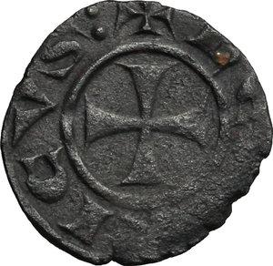 obverse: Cipro.  Enrico I (1218-1253). Denaro al tipo genovese