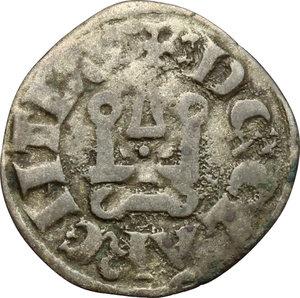 reverse: Chiarenza.  Carlo II d Angiò (1285-1289).. Denaro tornese