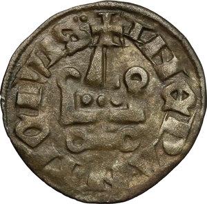 reverse: Grecia Franca, Epiro.  Filippo di Taranto (1294-1313).. Denaro tornese