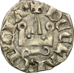 reverse: Chiarenza.  Isabella di Villehardouin (1297-1301). Denaro tornese