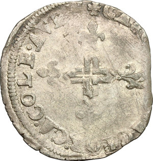 reverse: Avignone.  Gregorio XIII (1572-1585). Da 6 bianchi
