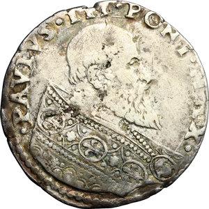 obverse: Bologna.  Paolo III (1534-1549). Bianco, armetta del Card. Giovanni Maria Del Monte