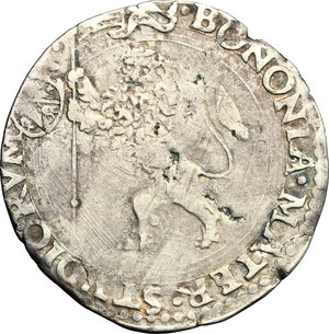 reverse: Bologna.  Paolo III (1534-1549). Bianco, armetta del Card. Giovanni Maria Del Monte