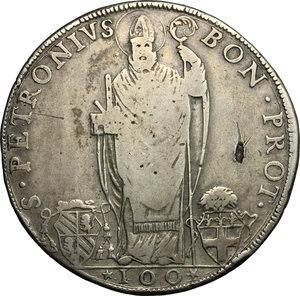 reverse: Bologna.  Pio VI (1775-1799). Scudo romano A. III, 1777