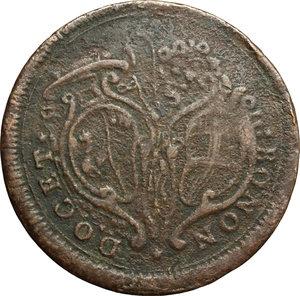 obverse: Bologna.  Pio VI (1775-1799). Baiocco A. VI, 1780