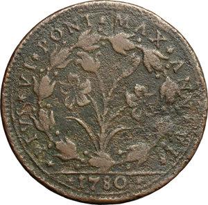reverse: Bologna.  Pio VI (1775-1799). Baiocco A. VI, 1780