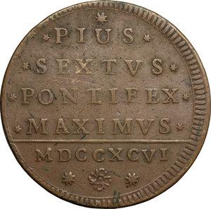 reverse: Bologna.  Pio VI (1775-1799). 2 baiocchi 1796