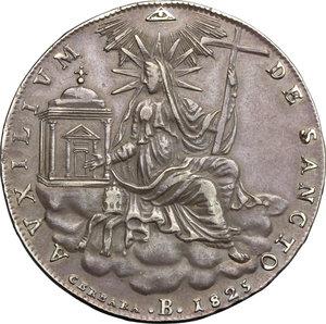 Bologna.  Leone XII (1823-1829).. Scudo A. III, 1825