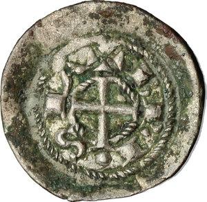 reverse: Brescia.  Comune, a nome di Federico I (1186-1250).. Denaro scodellato