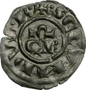 obverse: Brindisi o Messina.  Corrado II (1254-1258). Denaro
